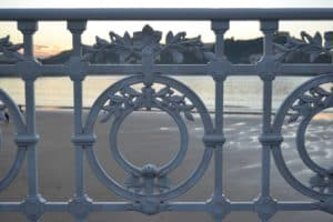 Iconic Railing of San Sebastián Spain